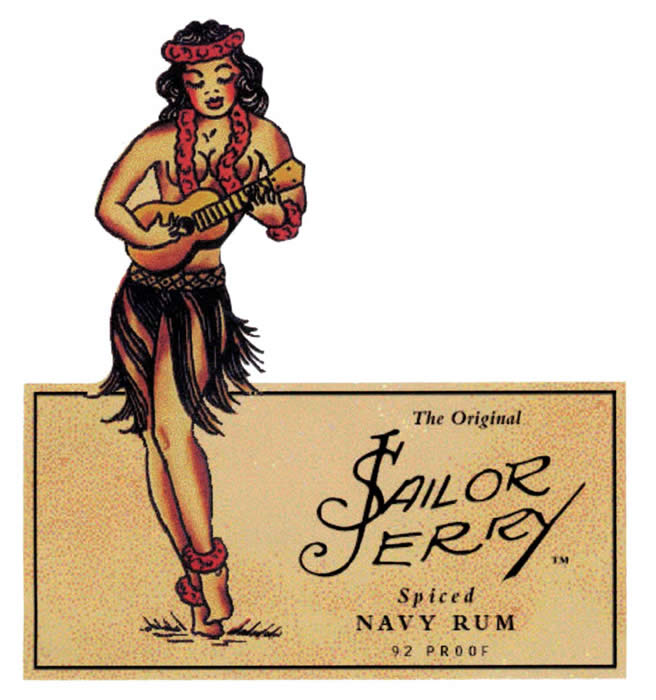 Sailor Jerry Spiced Rum takes its name from Norman Sailor Jerry Collins